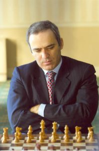Garry Kasparov in 2007 ( one of the best chess players of all time)