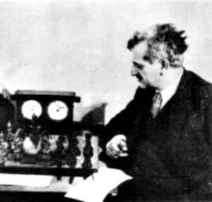 Lasker in 1925 in Moscow.