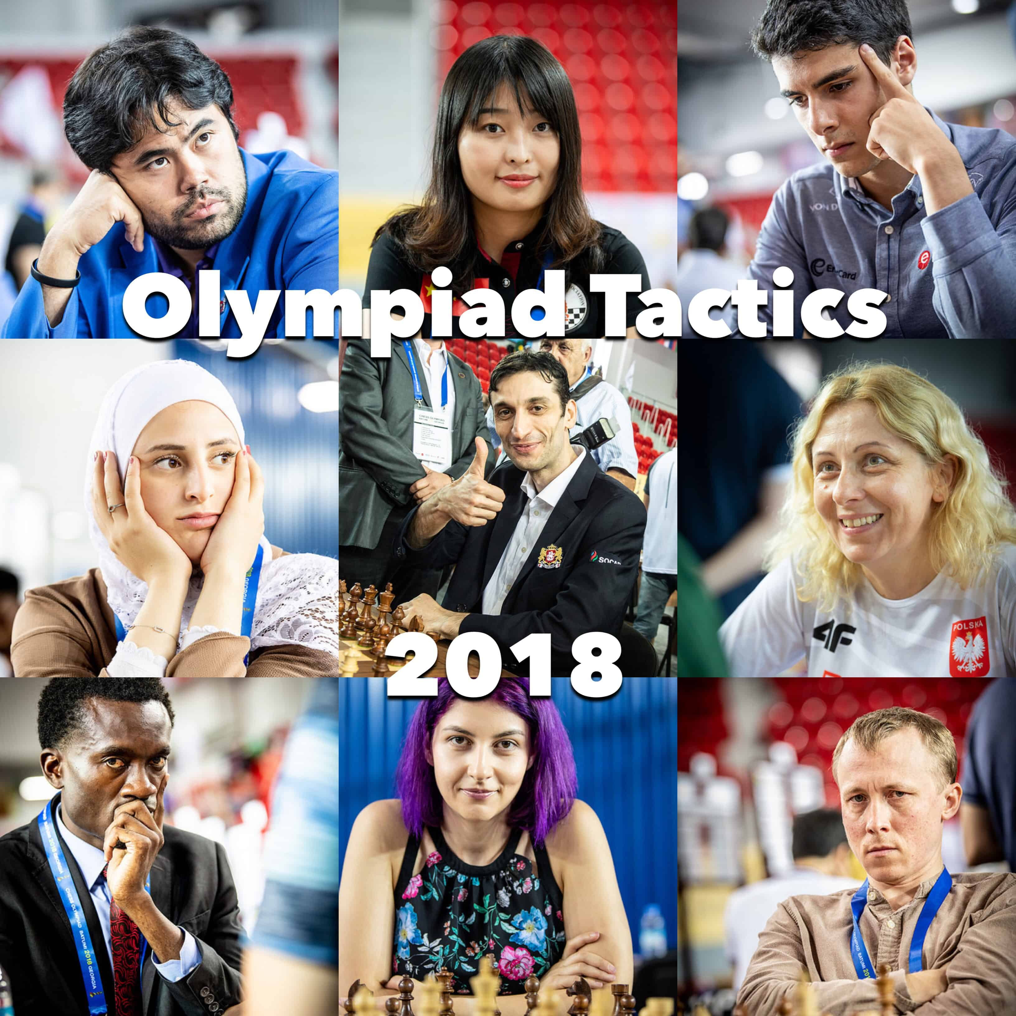 Get our FREE 2018 Chess Olympiad tactics course now