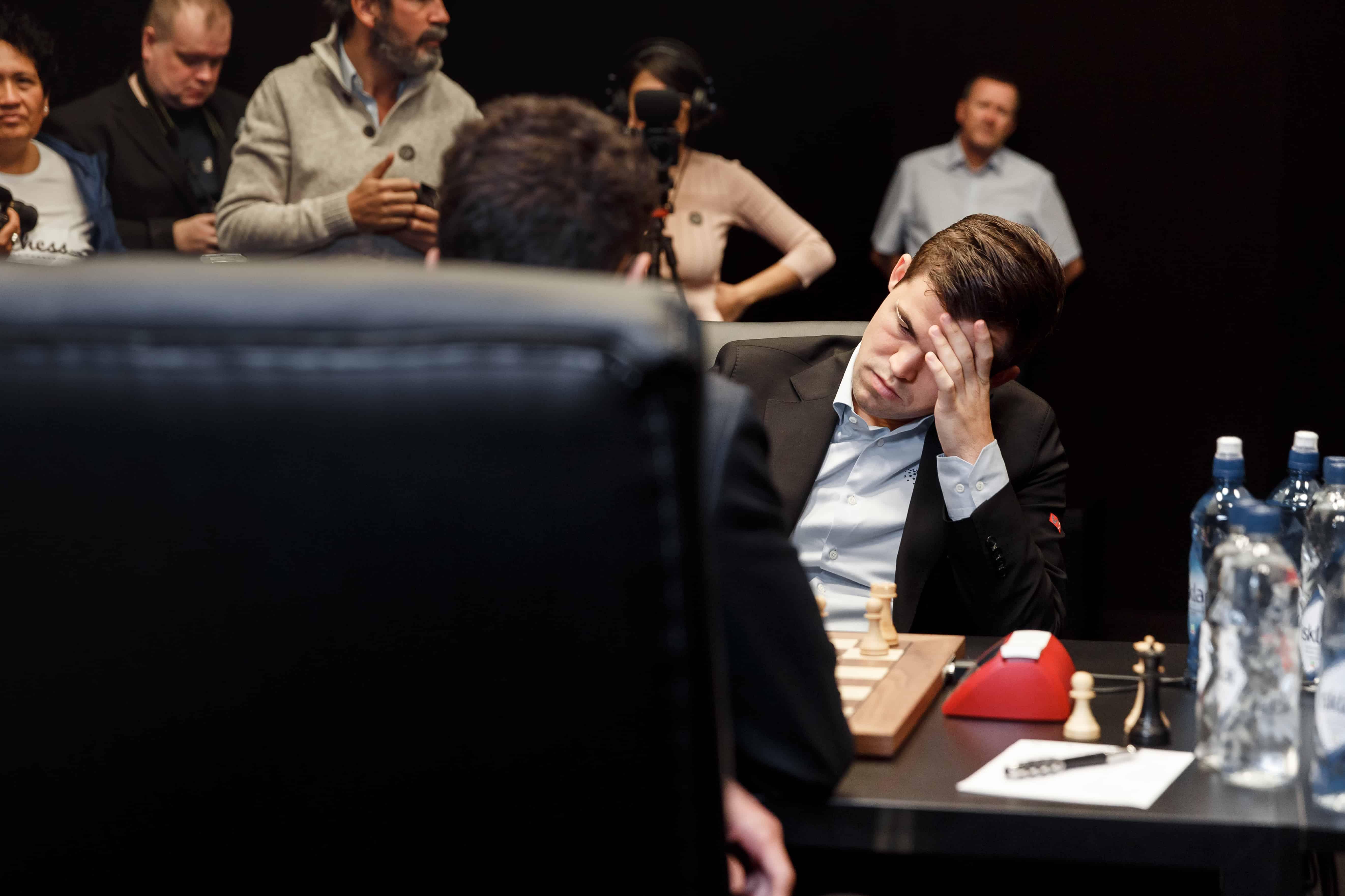 Magnus Carlsen had the white pieces
