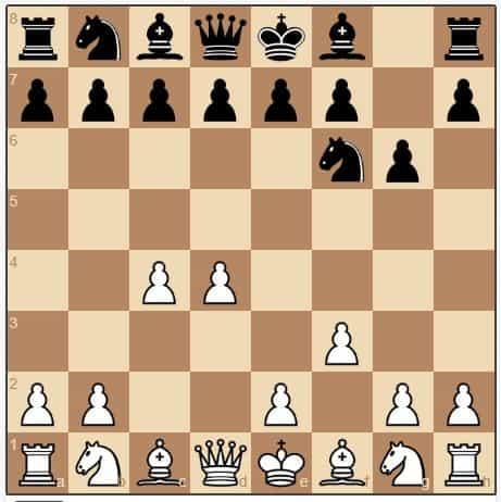 white chess opening attack