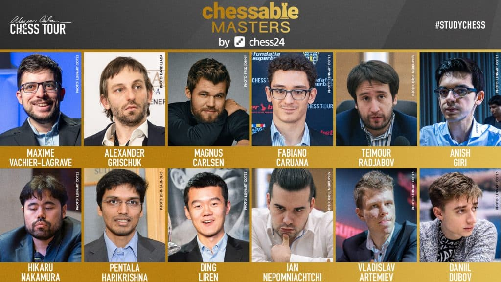 The Chessable Masters line-up