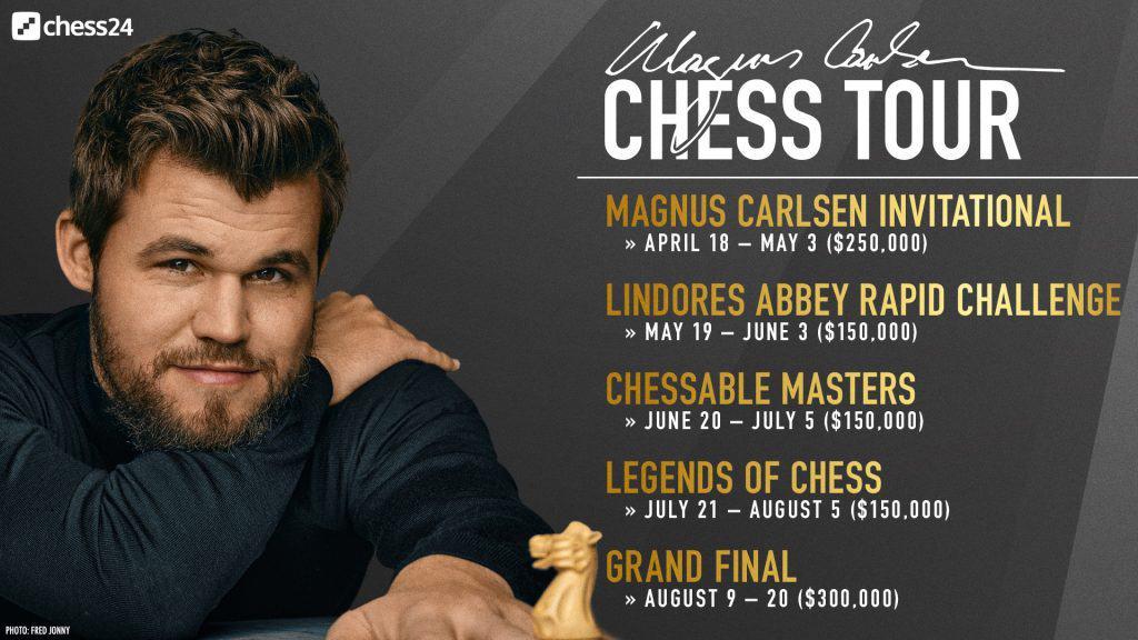 Magnus Carlsen Chess Tour schedule