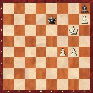 One bishop, three pawns