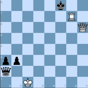 Queen and Rook Lawnmower Checkmate