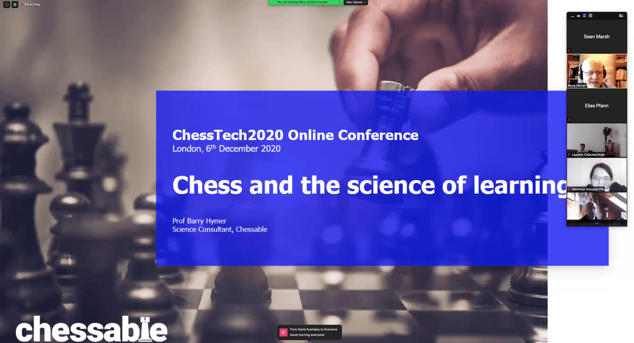 Chess and the Science of Learning
