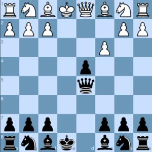 The Danish Gambit 4 ...Qxd5