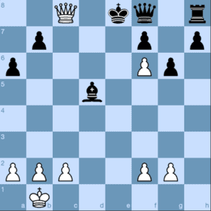 Queen and Pawn Checkmate Pattern