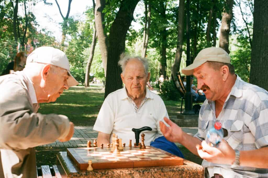 Chess Older Person's Game