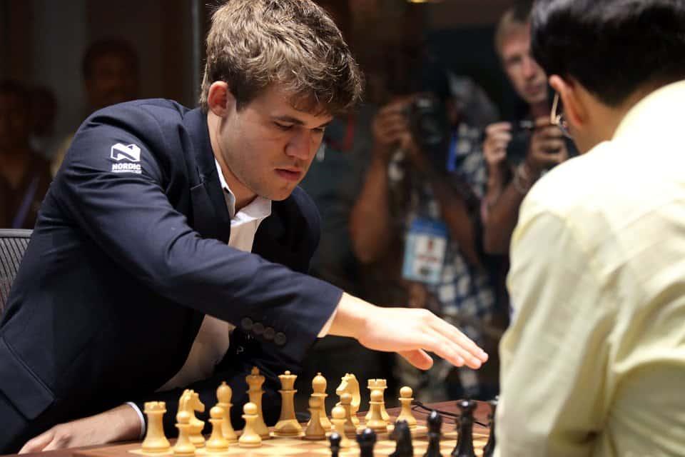 Carlsen Playing Anand