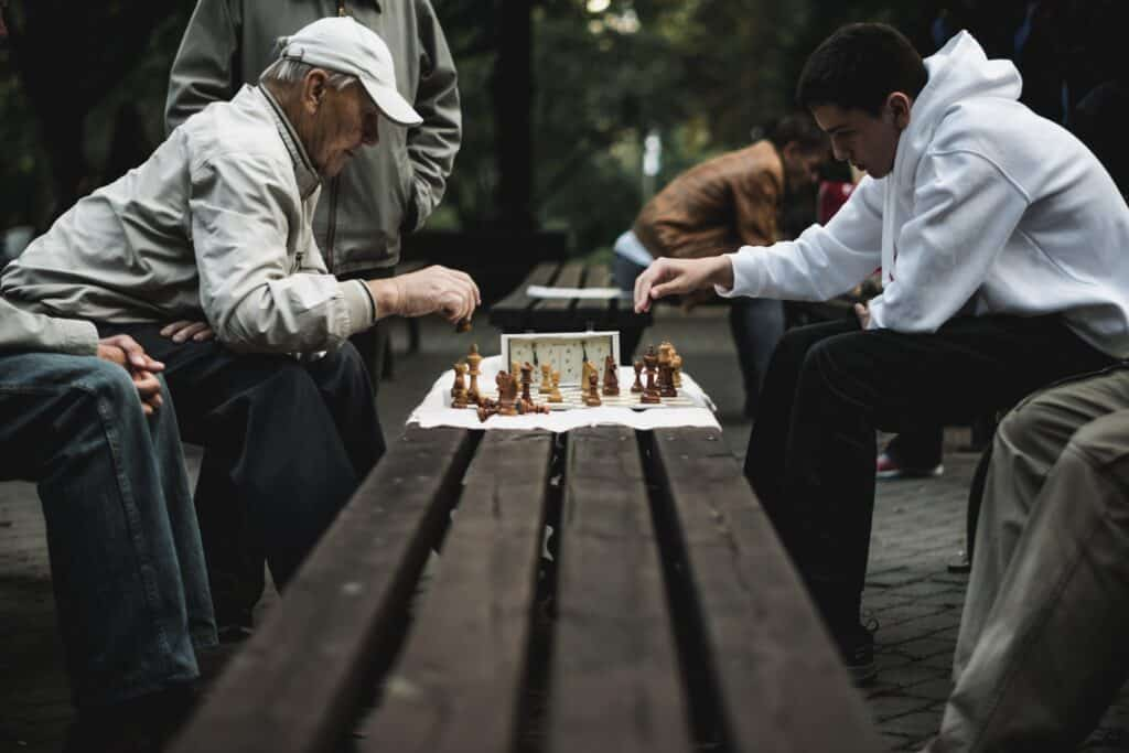 Chess Old Against Young