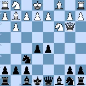 White threatens Black's triumphant center