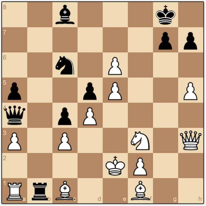 Oll-Dokhoian 25.Bxc1 Black to play