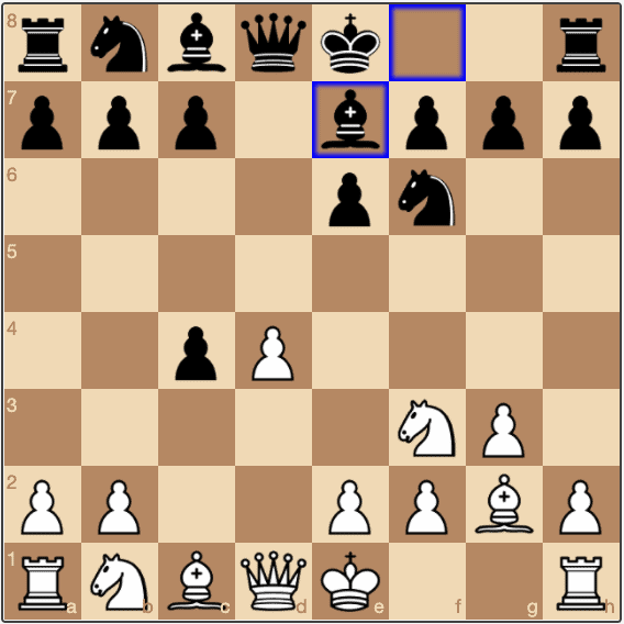 A Classical Open Catalan opening, after 1.d4