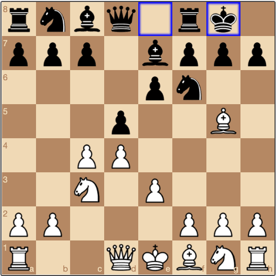 A typical position in the QGD.