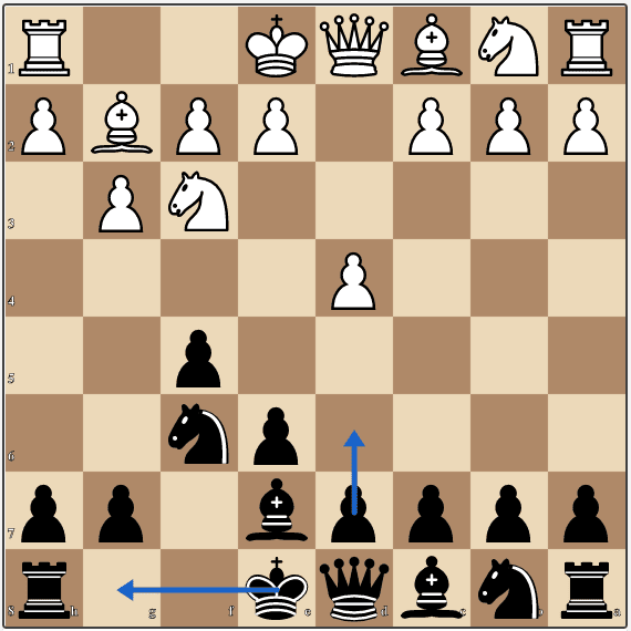A mainline position in the Classical Dutch chess opening