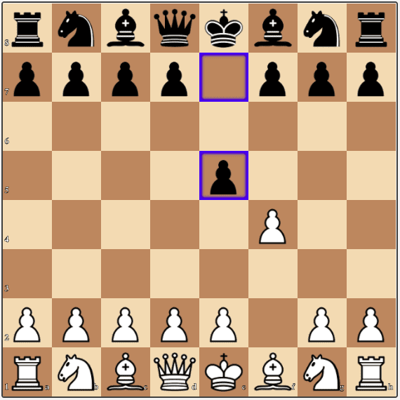 In From's Gambit, Black gives up their e-pawn on move 1.