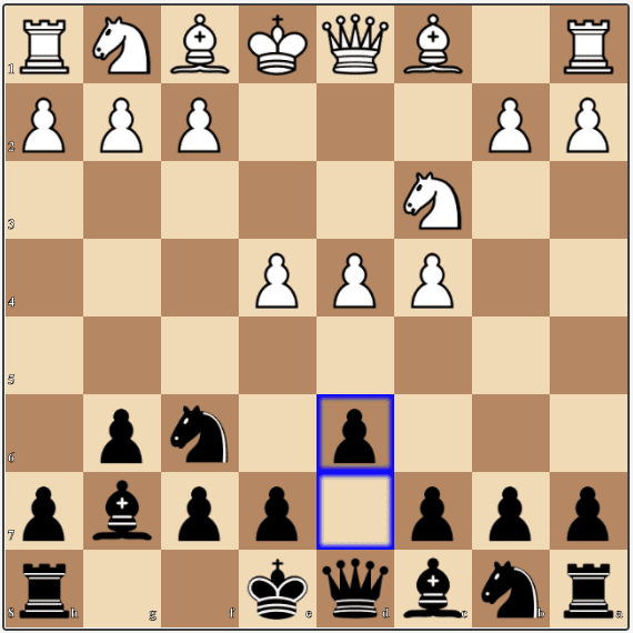 The King's Indian Defense continues with this mainline