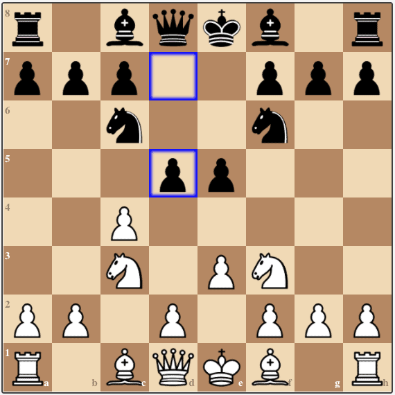Here Black breaks early with 4...d5