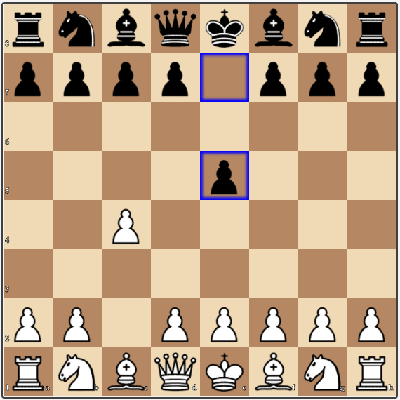 A Reversed Sicilian position after the moves 1.c4 e5.