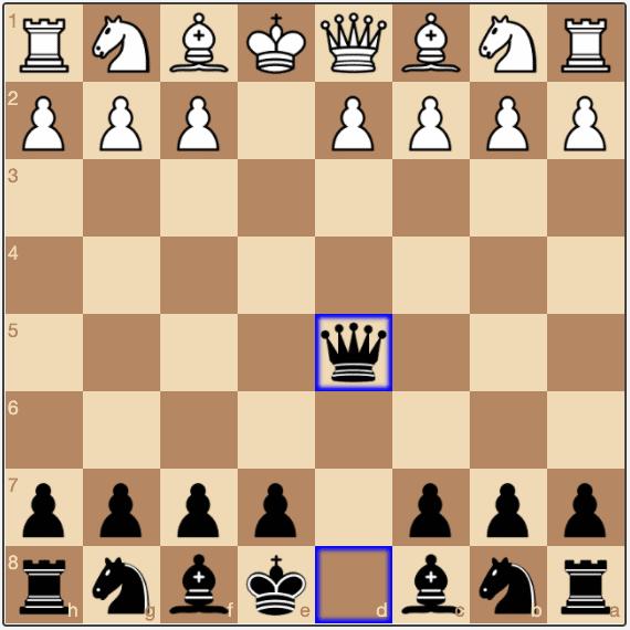 In the Scandinavian Defense, Black recaptures with the queen