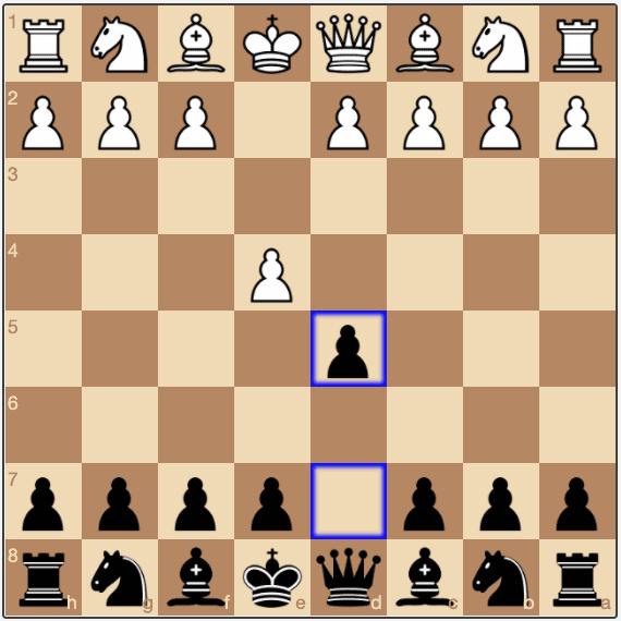 The Scandinavian Defense is reached after 1.e4 d5