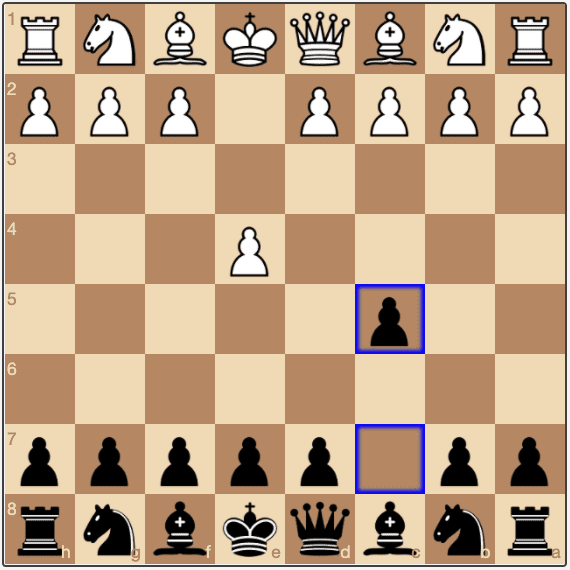 The first move of the Sicilian Defense is 1...c5