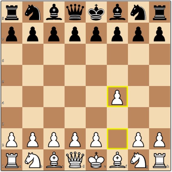 Bird's Opening is reached after the first move 1.f4
